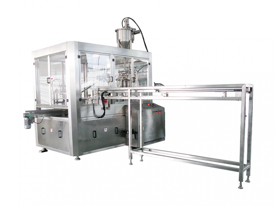 SKZL Series Standing Pouch Bag Filling and Lid Screwing Machine