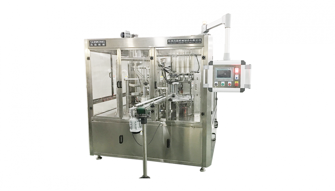 SKB-R Rotation Paper(plastic、aluminum)Cup Filling and Sealing Machine